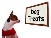 Dog Treats Sign Showing Canine Rewards Or Snacks — Stock Photo