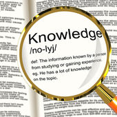 Knowledge Definition Magnifier Showing Information Intelligence — Stock Photo
