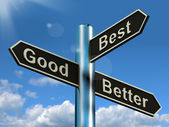 Good Better Best Signpost Representing Ratings And Improvements — Stock Photo