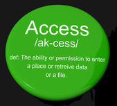 Access Definition Button Showing Permission To Enter A Place — Stock Photo