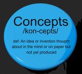 考えの思考または発明を示す概念定義ボタン — ストック写真