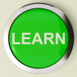 Learn Button Or Icon For Education Or Online Learning — Stock Photo