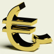 Stock Photo: Broken Euro Representing Inflation Or Economic Failure