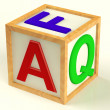 Block Spelling FAQ As Symbol for Questions And Answers — Stock Photo #8052003