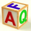 Block Spelling FAQ As Symbol for Questions And Answers — Stock Photo