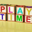 Kids Blocks Spelling Play Time As Symbol for Fun And School — Stock Photo #8052259