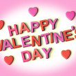 Letters Spelling Happy Valentines Day With Hearts As Symbol for — ストック写真