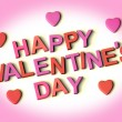 Stock Photo: Letters Spelling Happy Valentines Day With Hearts As Symbol for