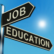 Job Or Education Directions On A Signpost — Stock Photo