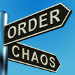 Stock Photo: Order Or Chaos Directions On Signpost