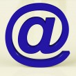 Blue Email Sign Representing Internet Mail And Communication — Stock Photo