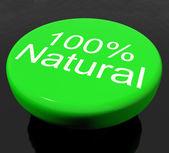Button 100% Natural Organic Or Environmental — Stock Photo