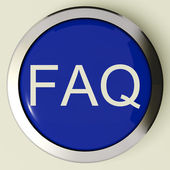 Frequently Asked Questions Button Or FAQ Icon — Stock Photo