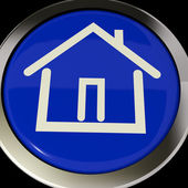 House Or Home Icon Button For Real Estate — Stock Photo