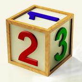 Děti číslo bloku jako symbol pro počítání nebo počítání — Stock fotografie