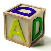 Kids Block Spelling Dad As Symbol for Fatherhood And Parenting — Stock Photo