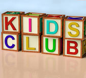 Blocks Spelling Kids Club As Symbol for Childrens Fun — Stock Photo