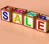Blocks Spelling Sale As Symbol for Discounts And Promotions — Stock Photo