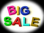 Liter pisowni duża sprzedaż jako symbol zniżki i promocje — Zdjęcie stockowe