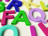 Letters Spelling FAQ As Symbol for Questions And Answers — Stock Photo