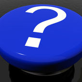Question Mark Button As Symbol For FAQ or Information — Stock Photo
