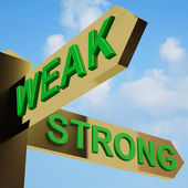 Weak Or Strong Directions On A Signpost — Stock Photo