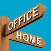 Direcciones de oficina o el hogar en un cartel — Foto de Stock