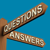 Questions Or Answers Directions On A Signpost — Stock Photo