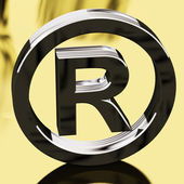 Silver Registered Sign Representing Patented Brands — Stock Photo