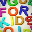 Letters Spelling For Kids As Symbol for Childhood And Children - Stock Photo
