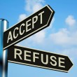 Постер, плакат: Accept Or Refuse Directions On A Signpost