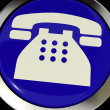 Telephone Icon Or Button As Symbol For Calling Or Phone Call - Stock Photo