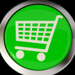 Shopping Cart Icon Or Button As Symbol For Checkout Or Online Sh - Stock Photo