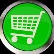 Shopping Cart Icon Or Button As Symbol For Checkout Or Online Sh — Stock Photo