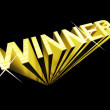 Winner Text In Gold And 3d As Symbol For Success And Victory - Stock Photo