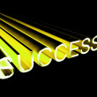 Success Text In Yellow And 3d As Symbol For Goals And Winning - Stock Photo