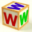 Block With Www As Symbol for Internet And Information — Stock Photo #8065817