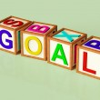 Blocks Spelling Goal As Symbol for Target And Success — Stock Photo