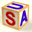 Block Spelling UsAs Symbol for AmericAnd Patriotism — Stock Photo #8065885