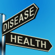 Disease Or Health Directions On A Signpost — Stock Photo