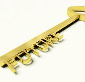 Chave com futuro texto como símbolo para o destino ou a oportunidade — Foto Stock