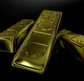 Zlaté cihly jako symbol bohatství a poklad — Stock fotografie