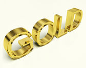 Gold Letters As Symbol For Wealth Or Riches — Stock Photo