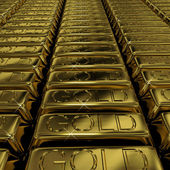 Gold Bars As Symbol For Wealth Or Investment — Stock Photo