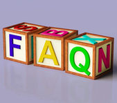 Blocks Spelling Faq As Symbol for Questions And Answers — Stock Photo