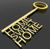 Key With Sweet Home Text As Symbol For Property And Security — Stock Photo