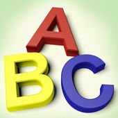 Kids Letters Spelling Abc As Symbol For Education And Learning — Stock Photo