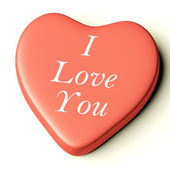 Pink Heart With I Love You As Symbol for Valentines Day — Stock Photo