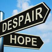 Despair Or Hope Directions On A Signpost — Stock Photo