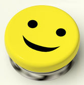 Smiley Button As Symbol For Cheer Or Happiness — Stock Photo